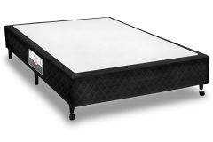 Cama Box Castor Poli Black